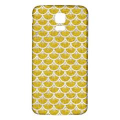 Scales3 White Marble & Yellow Denim Samsung Galaxy S5 Back Case (white) by trendistuff