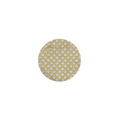 SCALES2 WHITE MARBLE & YELLOW DENIM (R) 1  Mini Magnets