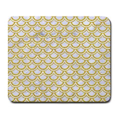 SCALES2 WHITE MARBLE & YELLOW DENIM (R) Large Mousepads