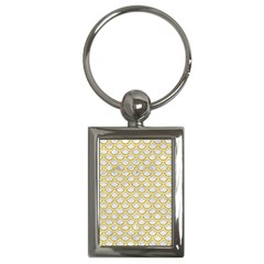 SCALES2 WHITE MARBLE & YELLOW DENIM (R) Key Chains (Rectangle)