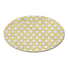 SCALES2 WHITE MARBLE & YELLOW DENIM (R) Oval Magnet