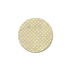 SCALES2 WHITE MARBLE & YELLOW DENIM (R) Golf Ball Marker