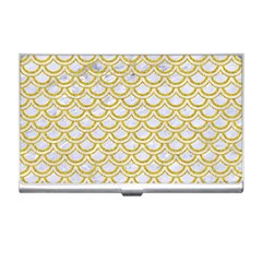 SCALES2 WHITE MARBLE & YELLOW DENIM (R) Business Card Holders