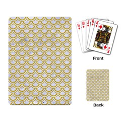 SCALES2 WHITE MARBLE & YELLOW DENIM (R) Playing Card