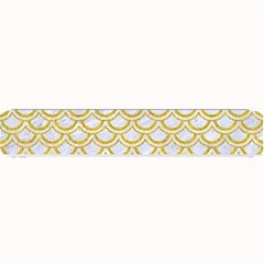 SCALES2 WHITE MARBLE & YELLOW DENIM (R) Small Bar Mats