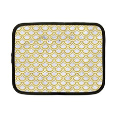 SCALES2 WHITE MARBLE & YELLOW DENIM (R) Netbook Case (Small)