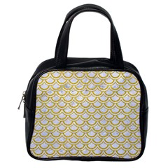 SCALES2 WHITE MARBLE & YELLOW DENIM (R) Classic Handbags (One Side)