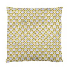 SCALES2 WHITE MARBLE & YELLOW DENIM (R) Standard Cushion Case (One Side)