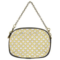 SCALES2 WHITE MARBLE & YELLOW DENIM (R) Chain Purses (Two Sides)