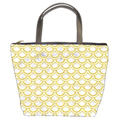 SCALES2 WHITE MARBLE & YELLOW DENIM (R) Bucket Bags