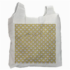 SCALES2 WHITE MARBLE & YELLOW DENIM (R) Recycle Bag (Two Side)