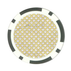 SCALES2 WHITE MARBLE & YELLOW DENIM (R) Poker Chip Card Guard (10 pack)
