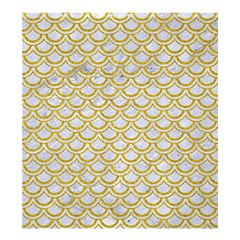 SCALES2 WHITE MARBLE & YELLOW DENIM (R) Shower Curtain 66  x 72  (Large)