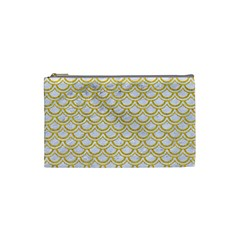 SCALES2 WHITE MARBLE & YELLOW DENIM (R) Cosmetic Bag (Small)