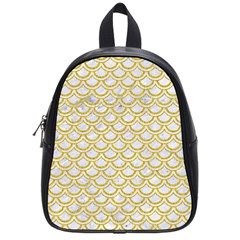 SCALES2 WHITE MARBLE & YELLOW DENIM (R) School Bag (Small)
