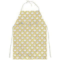 SCALES2 WHITE MARBLE & YELLOW DENIM (R) Full Print Aprons