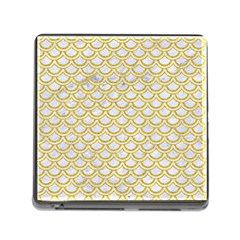 SCALES2 WHITE MARBLE & YELLOW DENIM (R) Memory Card Reader (Square)