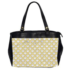 SCALES2 WHITE MARBLE & YELLOW DENIM (R) Office Handbags (2 Sides)