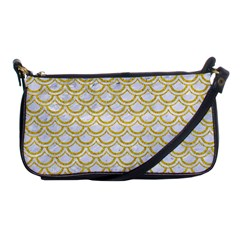 SCALES2 WHITE MARBLE & YELLOW DENIM (R) Shoulder Clutch Bags