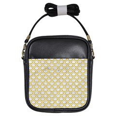 SCALES2 WHITE MARBLE & YELLOW DENIM (R) Girls Sling Bags