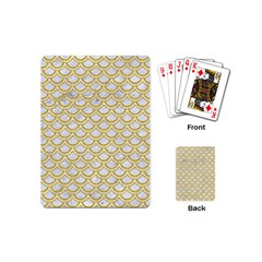 SCALES2 WHITE MARBLE & YELLOW DENIM (R) Playing Cards (Mini)
