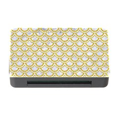 SCALES2 WHITE MARBLE & YELLOW DENIM (R) Memory Card Reader with CF