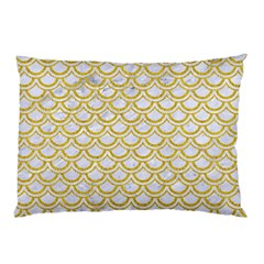 SCALES2 WHITE MARBLE & YELLOW DENIM (R) Pillow Case (Two Sides)