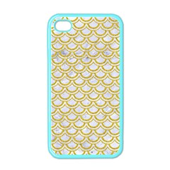 SCALES2 WHITE MARBLE & YELLOW DENIM (R) Apple iPhone 4 Case (Color)