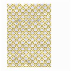 SCALES2 WHITE MARBLE & YELLOW DENIM (R) Small Garden Flag (Two Sides)