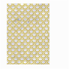 SCALES2 WHITE MARBLE & YELLOW DENIM (R) Large Garden Flag (Two Sides)