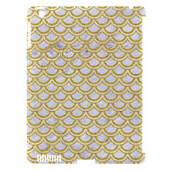 SCALES2 WHITE MARBLE & YELLOW DENIM (R) Apple iPad 3/4 Hardshell Case (Compatible with Smart Cover)