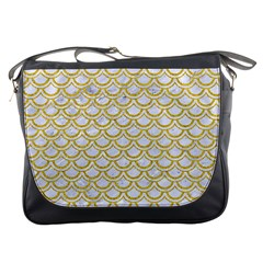 SCALES2 WHITE MARBLE & YELLOW DENIM (R) Messenger Bags