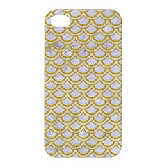 SCALES2 WHITE MARBLE & YELLOW DENIM (R) Apple iPhone 4/4S Premium Hardshell Case