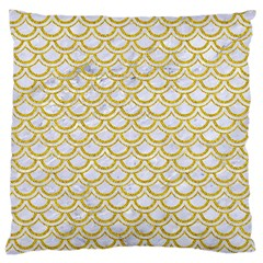 SCALES2 WHITE MARBLE & YELLOW DENIM (R) Large Cushion Case (Two Sides)