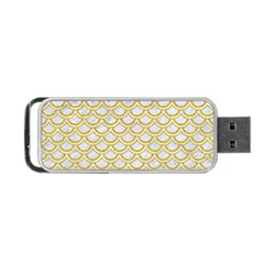 SCALES2 WHITE MARBLE & YELLOW DENIM (R) Portable USB Flash (Two Sides)