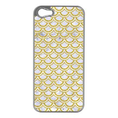 SCALES2 WHITE MARBLE & YELLOW DENIM (R) Apple iPhone 5 Case (Silver)