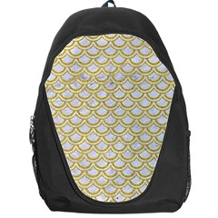 SCALES2 WHITE MARBLE & YELLOW DENIM (R) Backpack Bag