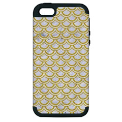 SCALES2 WHITE MARBLE & YELLOW DENIM (R) Apple iPhone 5 Hardshell Case (PC+Silicone)