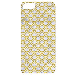 SCALES2 WHITE MARBLE & YELLOW DENIM (R) Apple iPhone 5 Classic Hardshell Case