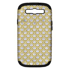 SCALES2 WHITE MARBLE & YELLOW DENIM (R) Samsung Galaxy S III Hardshell Case (PC+Silicone)