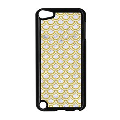 SCALES2 WHITE MARBLE & YELLOW DENIM (R) Apple iPod Touch 5 Case (Black)