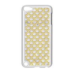 SCALES2 WHITE MARBLE & YELLOW DENIM (R) Apple iPod Touch 5 Case (White)