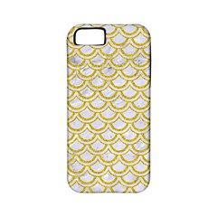 SCALES2 WHITE MARBLE & YELLOW DENIM (R) Apple iPhone 5 Classic Hardshell Case (PC+Silicone)