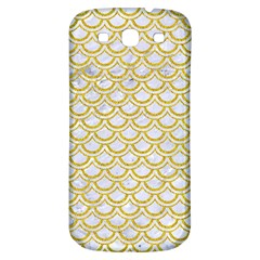SCALES2 WHITE MARBLE & YELLOW DENIM (R) Samsung Galaxy S3 S III Classic Hardshell Back Case