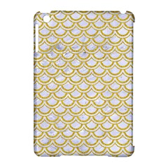 SCALES2 WHITE MARBLE & YELLOW DENIM (R) Apple iPad Mini Hardshell Case (Compatible with Smart Cover)