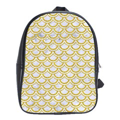 SCALES2 WHITE MARBLE & YELLOW DENIM (R) School Bag (XL)