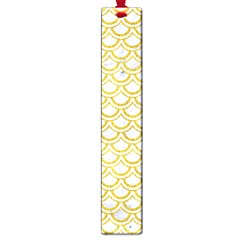 SCALES2 WHITE MARBLE & YELLOW DENIM (R) Large Book Marks