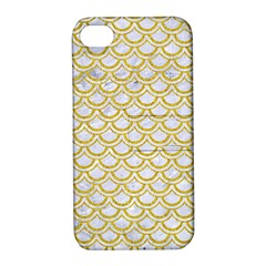 SCALES2 WHITE MARBLE & YELLOW DENIM (R) Apple iPhone 4/4S Hardshell Case with Stand