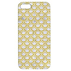 SCALES2 WHITE MARBLE & YELLOW DENIM (R) Apple iPhone 5 Hardshell Case with Stand