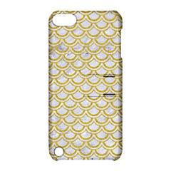 SCALES2 WHITE MARBLE & YELLOW DENIM (R) Apple iPod Touch 5 Hardshell Case with Stand